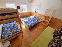 Čtyřlůžkový pokoj v přízemí s přistýlkou - pronájem chalupy Albrechtice v Jizerských horách