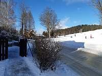 SKI areál Detoa pohled od chalupy - Albrechtice v Jizerských horách