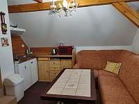 Malý apartmán - kuchyňský kout v obývací místnosti - Kořenov - Horní Polubný