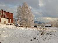 První sníh 2020 - chalupa k pronájmu Desná