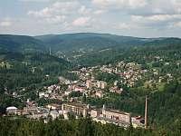Tanvald - pohled z rozhledny Terezínka - Desná v Jizerských horách