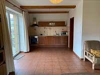 Apartmán č.1- kuchyňský kout - pronájem chalupy Lázně Libverda