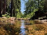 2,5km od chaty řeka Kamenice - Josefův Důl