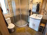 Koupelna s WC a sprchovým koutem. - Jiřetín pod Bukovou