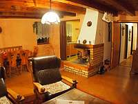 Obývací pokoj - pronájem chaty Nová Ves nad Nisou