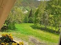 Výhled z pokoje - chata ubytování Josefův Důl - Dolní Maxov