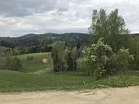 Modrá sjezdovka hned vedle chaletu - chata k pronajmutí Tanvald