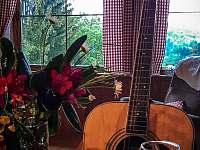 Výhled na kytaru - chata k pronájmu Šumburk nad Desnou