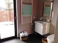 koupelna s výhledem do zahrady - chata k pronajmutí Pěnčín - Alšovice
