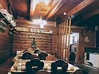 Společenská místnost - pronájem chaty Janov nad Nisou