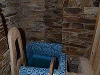 Bazének u sauny - chalupa k pronajmutí Nové Město pod Smrkem