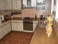 Kuchyně - chalupa ubytování Josefův Důl