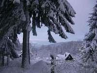 Pohled z chaty - k pronajmutí Fojtka