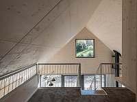 výhled z patra - pronájem chaty Bedřichov