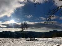 Výhled na Špičák - chalupa k pronajmutí Albrechtice v Jizerských horách