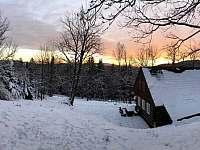 západ slunce - Albrechtice v Jizerských horách