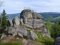 Kamenná výhlídka na Špičáku - Albrechtice