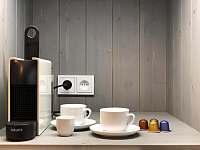 Kávovar včetně kapslí k dispozici :-) - apartmán k pronájmu Bedřichov