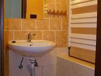 ...sprchový kout s umyvadlem - chalupa k pronajmutí Smržovka