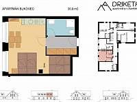 Apartmán Bukovec - plánek - Janov nad Nisou
