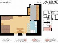 Apartmán Ještěd - plánek - Janov nad Nisou