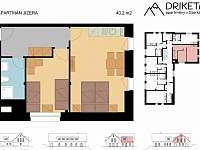 Apartmán Jizera - plánek - Janov nad Nisou