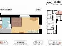 Apartmán Severák - plánek - Janov nad Nisou