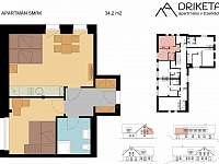 Apartmán Smrk - plánek - Janov nad Nisou