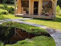 Venkovní finská sauna s jezírkem - Černá studnice - Smržovka