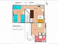 Apartmán č. 1 půdorys