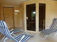 Odpočívárna před saunou - chalupa k pronájmu Horní Polubný