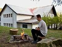 Chalupa U Saxany Lučany nad Nisou venkovní ohniště - ubytování Lučany nad Nisou