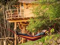 hamaky treehouse Emanuel - chata k pronájmu Křižany