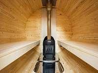 interier sauny treehouse Amálka - Křižany