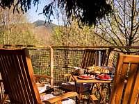 snídaně s výhledem na Ještěd v Treehouse Emanuel - chata ubytování Křižany