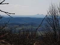 Výhled z treehouse Amálka směrem na západ - Křižany