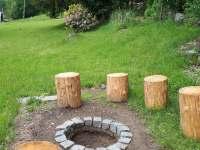 Venkovní ohniště - chalupa ubytování Polubný