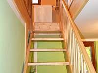 schodiště do mezonetové ložnice v zeleném apartmánu - Hrabětice
