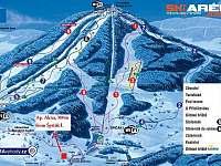 mapa zimní - Albrechtice v Jizerských horách