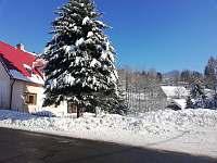 pohled na celý objekt od silnice - apartmán ubytování Albrechtice v Jizerských horách