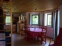 Obytná kuchyň - chalupa ubytování Albrechtice v Jizerských horách