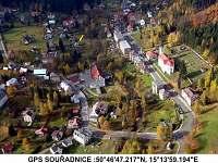 Letecký pohled + GPS souřadnice - Dolní Maxov - Josefův Důl,
