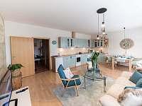 obývací pokoj s kuchyňským koutem - apartmán k pronájmu Liberec