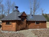 Finská kota - grilovací srub se saunou - Polubný
