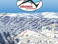 Ski areál Zásada - mapa -