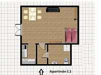 Bedřichov - apartmán k pronájmu - 24