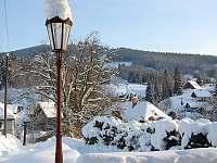 Výhled z domu - apartmán k pronajmutí Albrechtice v Jizerských horách