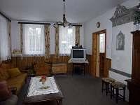 obývací pokoj - chalupa ubytování Dolní Maxov
