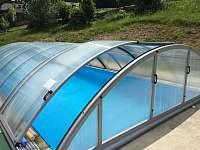 Krytý venkovní bazén - apartmán k pronájmu Josefův Důl - Dolní Maxov