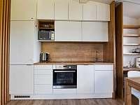 Nadstandartní kuchyňská linka s indukční varnou deskou a horkovzdušnou troubou - pronájem apartmánu Příchovice